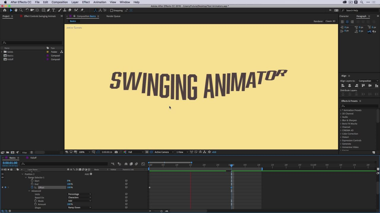 The Ultimate Guide to Text Animators in After Effects | Jake