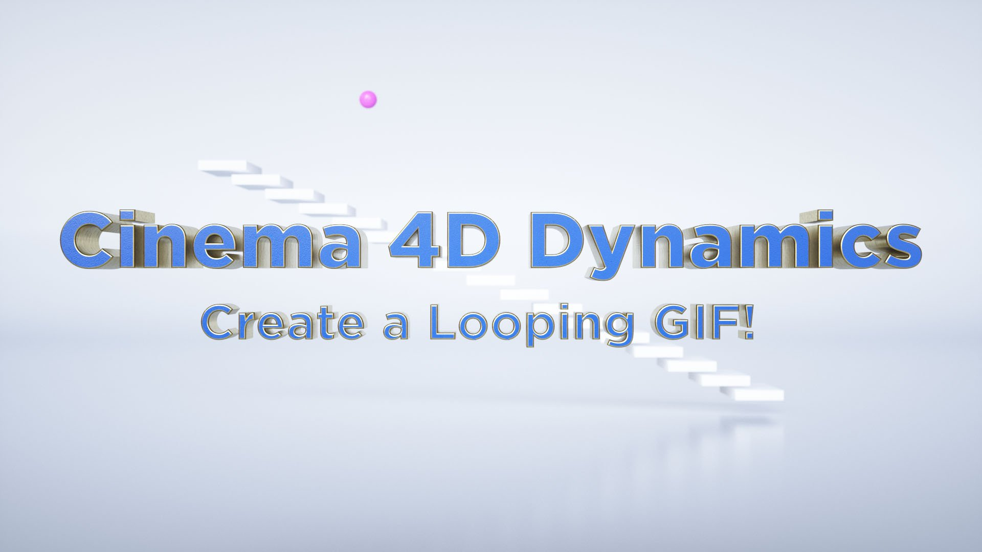 Cinema 4D for Beginners: Create an animated looping GIF with