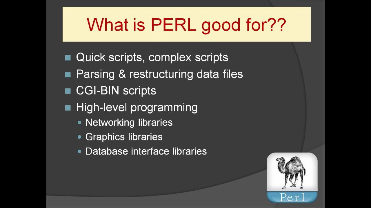 COMPLETE PERL Programming 2019