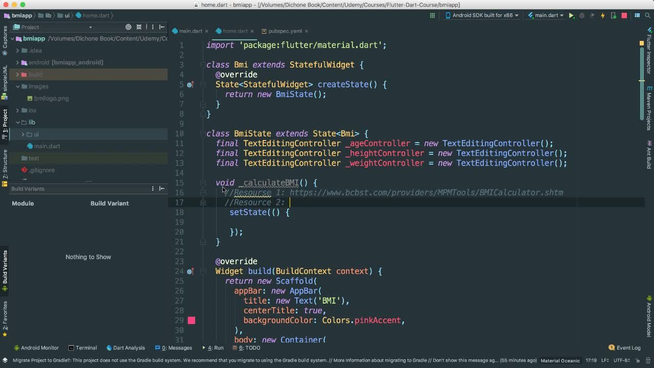 The Complete Flutter and Dart Course - Build iOS and Android Apps