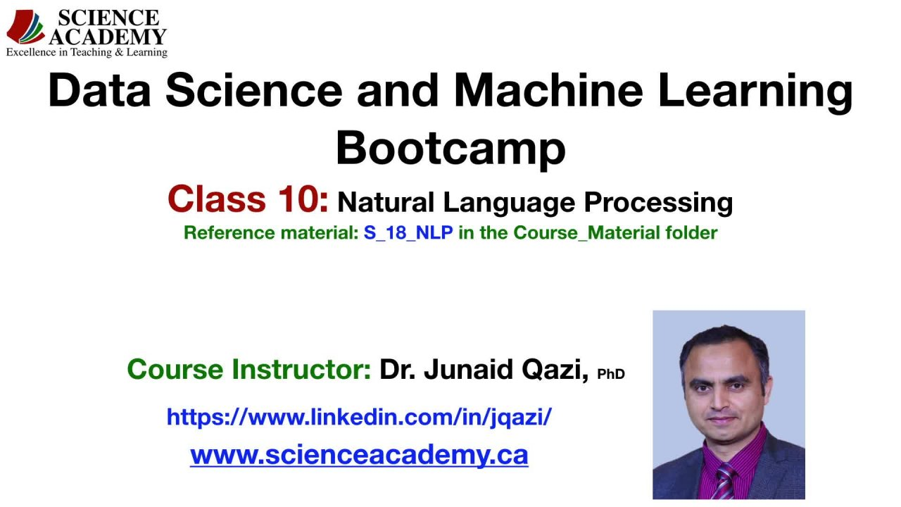 Data Science & Machine Learning Bootcamp -- Class 10 of 10 - Natural