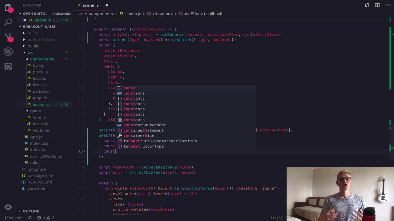 Breakout Game with JavaScript, React and SVG | Rodion