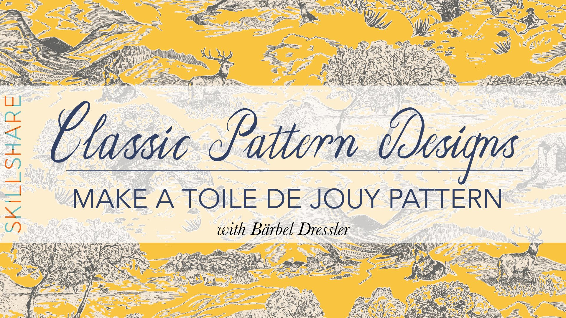 classic pattern designs make a toile de jouy pattern b rbel dressler skillshare. Black Bedroom Furniture Sets. Home Design Ideas