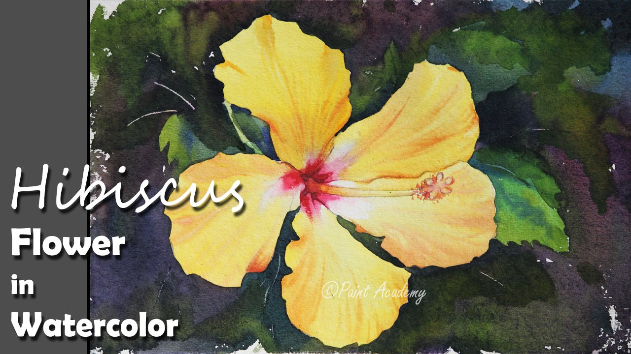 How to paint a hibiscus flower in watercolor step by step tutorial how to paint a hibiscus flower in watercolor step by step tutorial paint academy skillshare izmirmasajfo