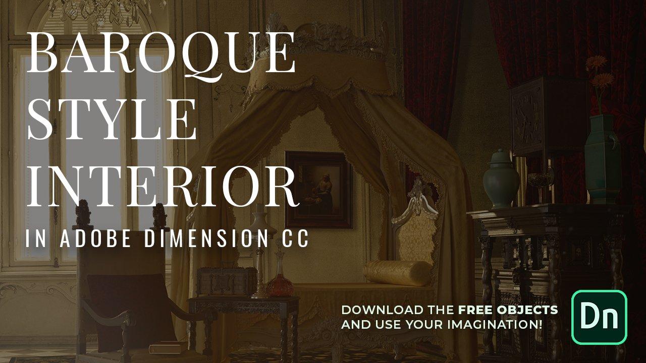 Creating an interior design scene in Adobe Dimension 2 0 | Anna