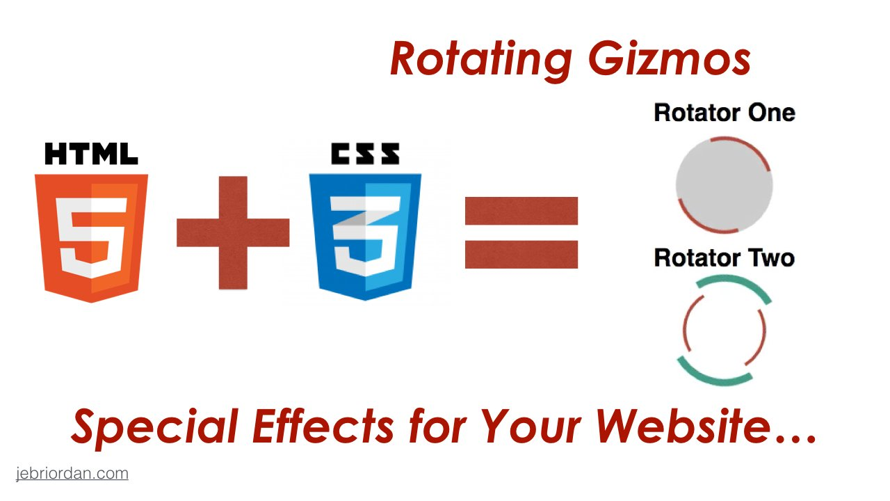Web Design with HTML5 + CSS3 Special Effects :: Create Rotating Gizmos