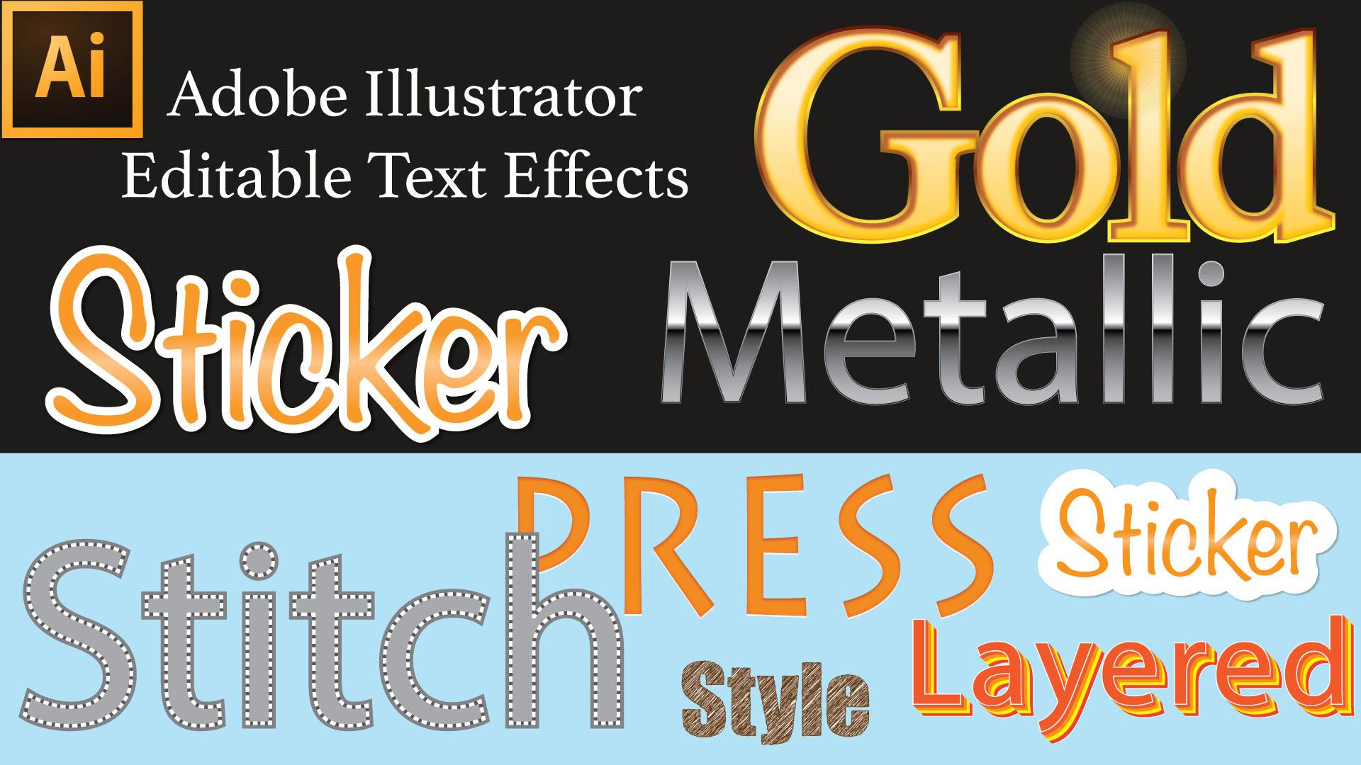 Design large banner in illustrator - Adobe Illustrator Tutorial Editable Effects In Illustrator Illustrator Font Effects Lia Leslie Skillshare