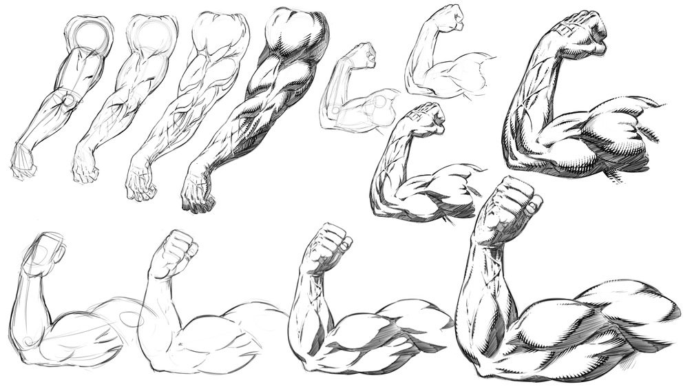 How To Draw And Shade Comic Book Style Arms And Anatomy Robert