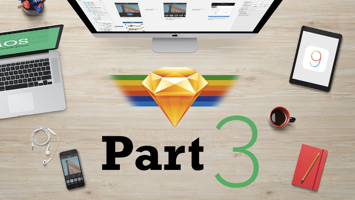 Mobile App Design from scratch with Sketch 3 - Part 3 (UI Design