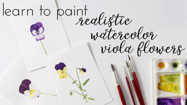 learn to paint realistic watercolor viola flowers anne butera
