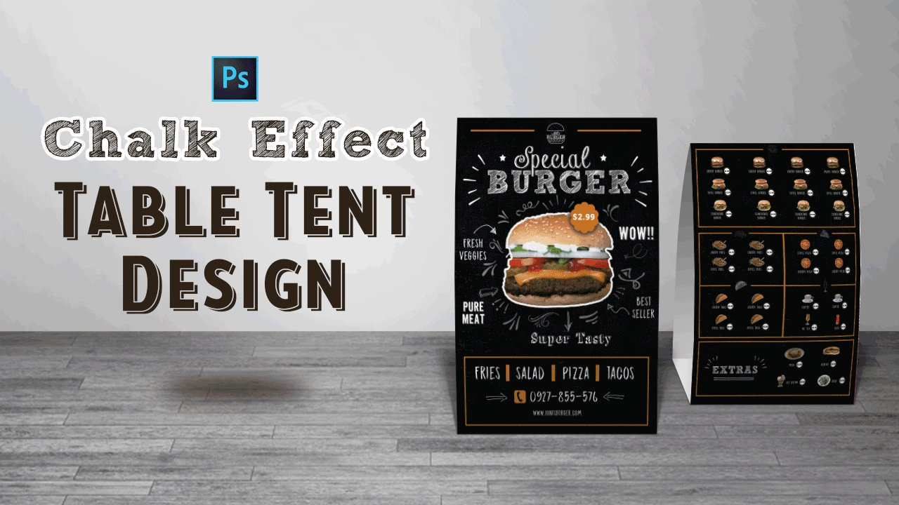 how to design a table tent in photoshop jestoni esteban skillshare