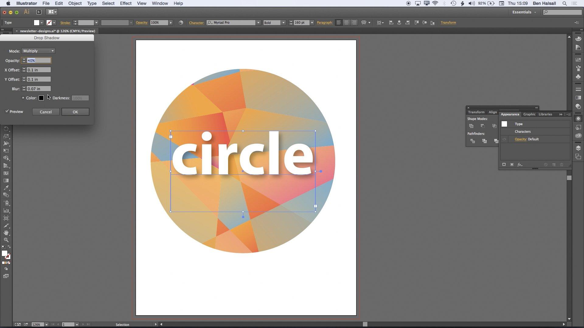 Illustrator: Gradients & Polygon Patterns for Design Backgrounds