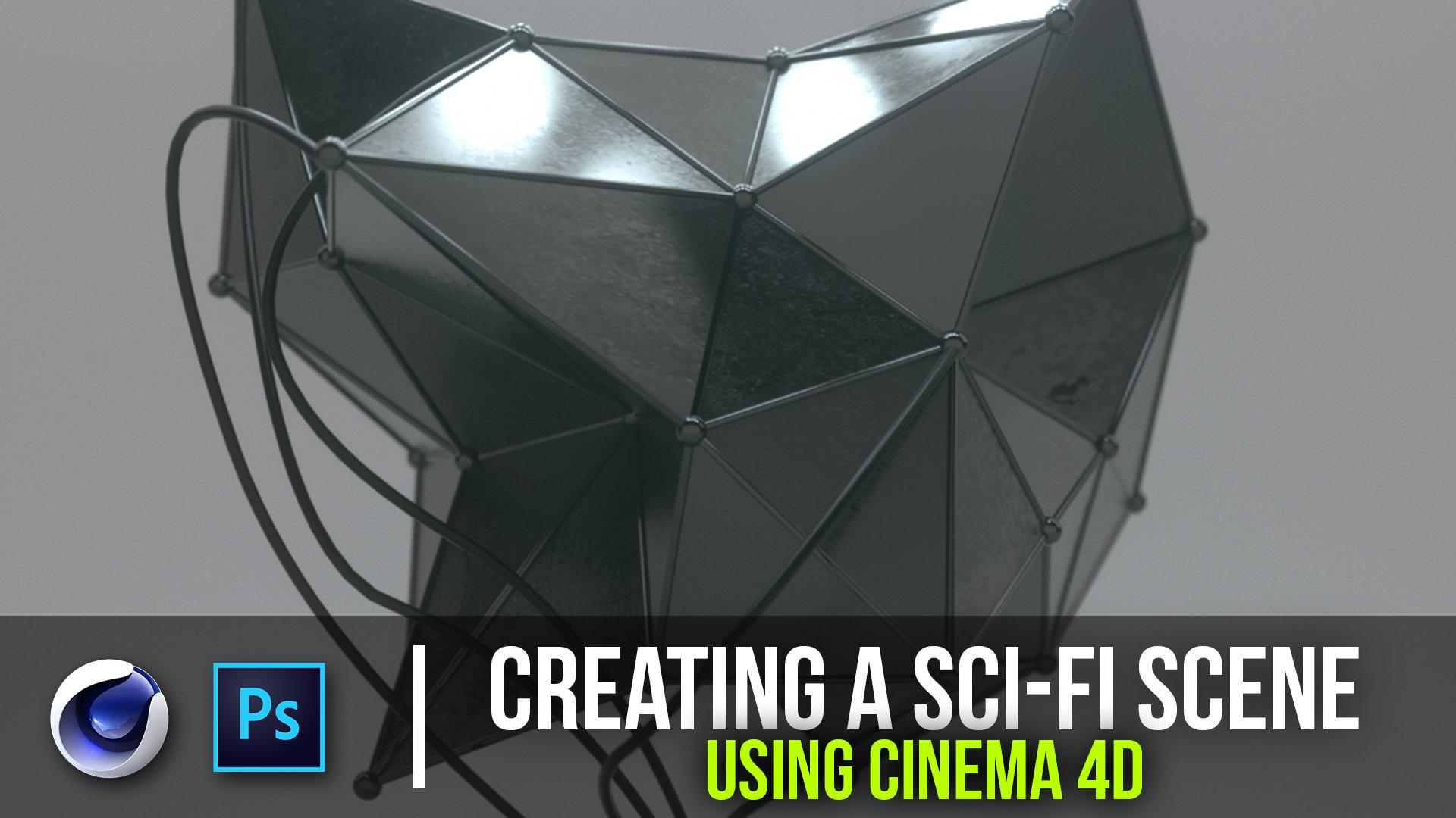 Creating a Sci-Fi Sculpture Using Cinema 4D