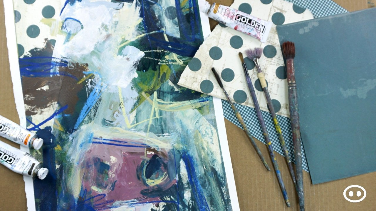 Explore Expressive Mark Making And Collaging - Abstract Cow Painting Class