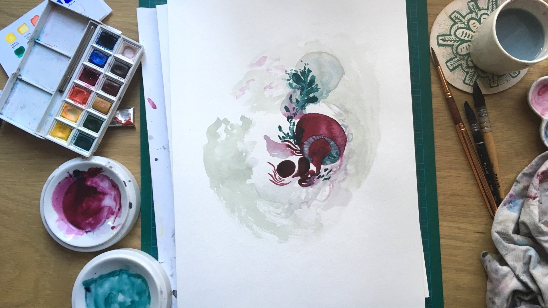 Abstract Watercolor Paintings: Explore Through Freeform & Planned Process