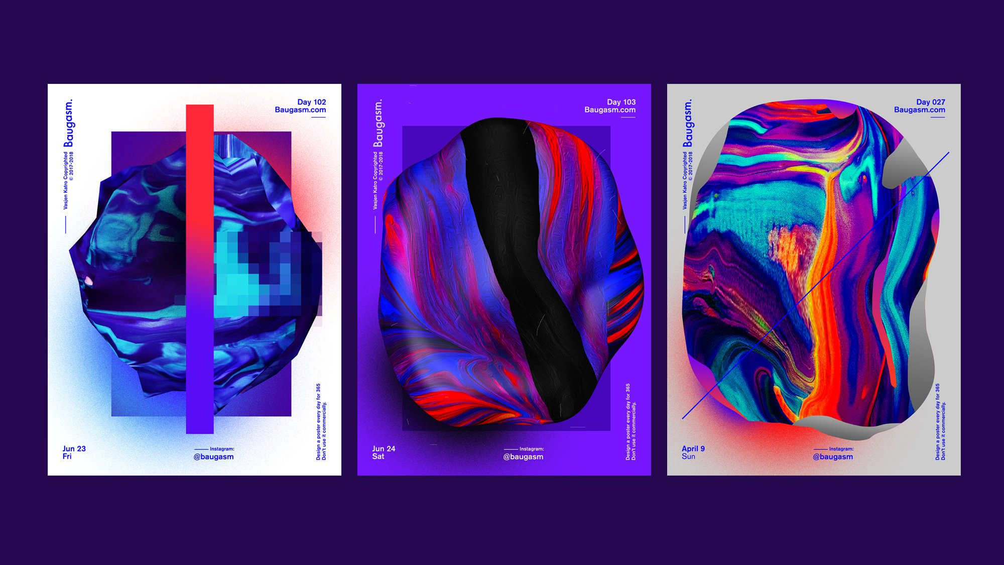 Baugasm™ Series #8 - Design Abstract Textures and Poster