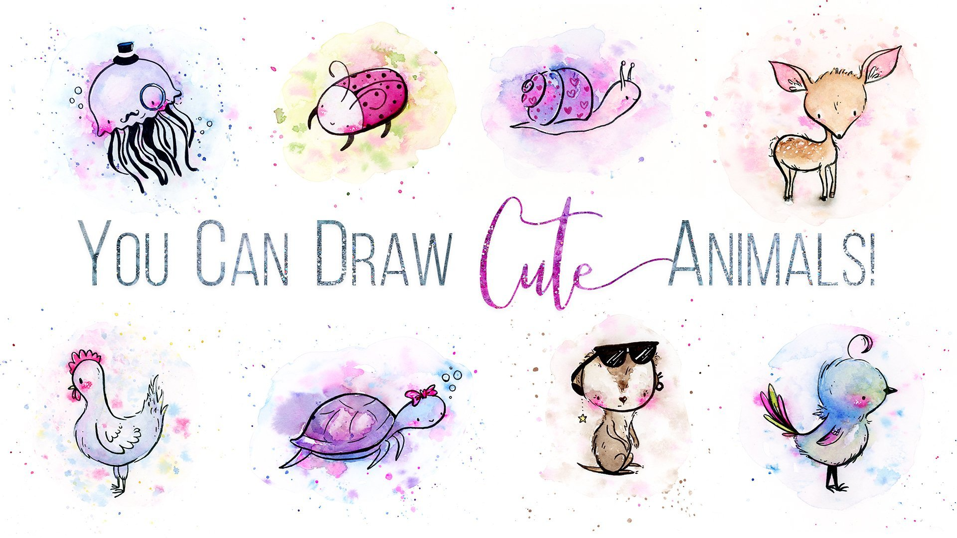 You Can Draw Cute Animals In 3 Simple Steps