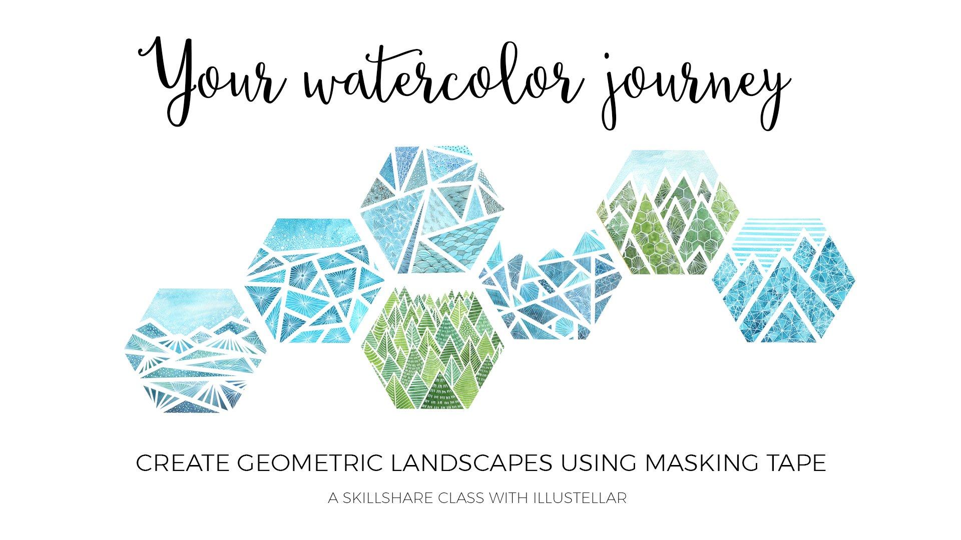 Your Watercolor Journey Create Geometric Landscapes Using Masking Tape Ewa Kleszcz Skillshare,Costco Birthday Cake Designs 2019