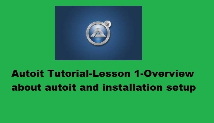 AUTOIT FOR BEGINNERS EPUB