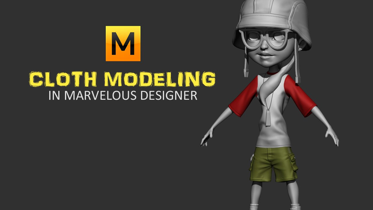 Game Character Making Part 02 - Cloth Modeling in Marvelous Designer for Complete Beginners