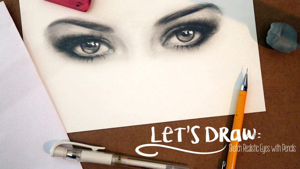 Lets draw sketch realistic eyes with pencils gabrielle brickey skillshare
