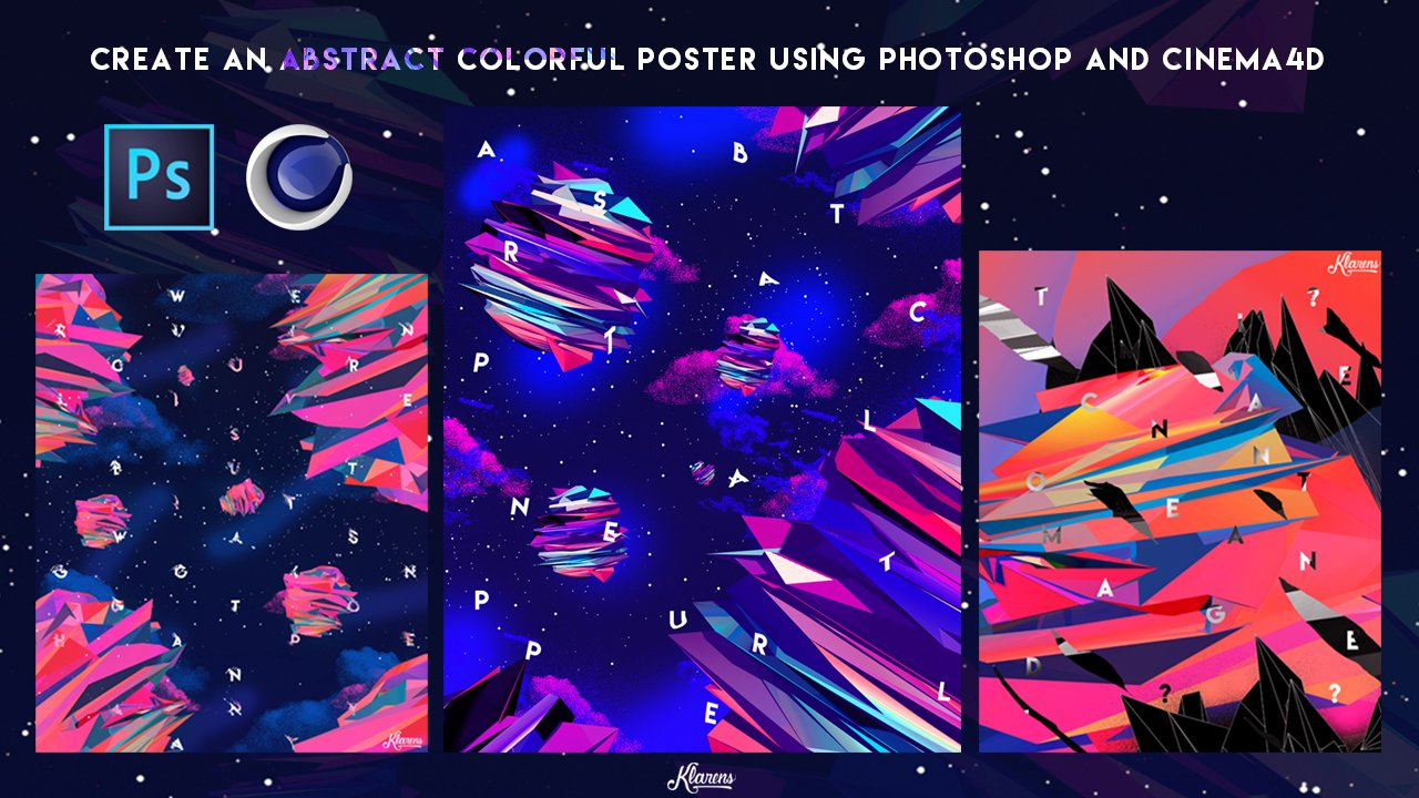 Create an Abstract Colorful Artwork Using Photoshop and