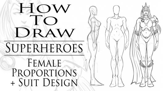 how to draw superheroes female proportions suit design robert