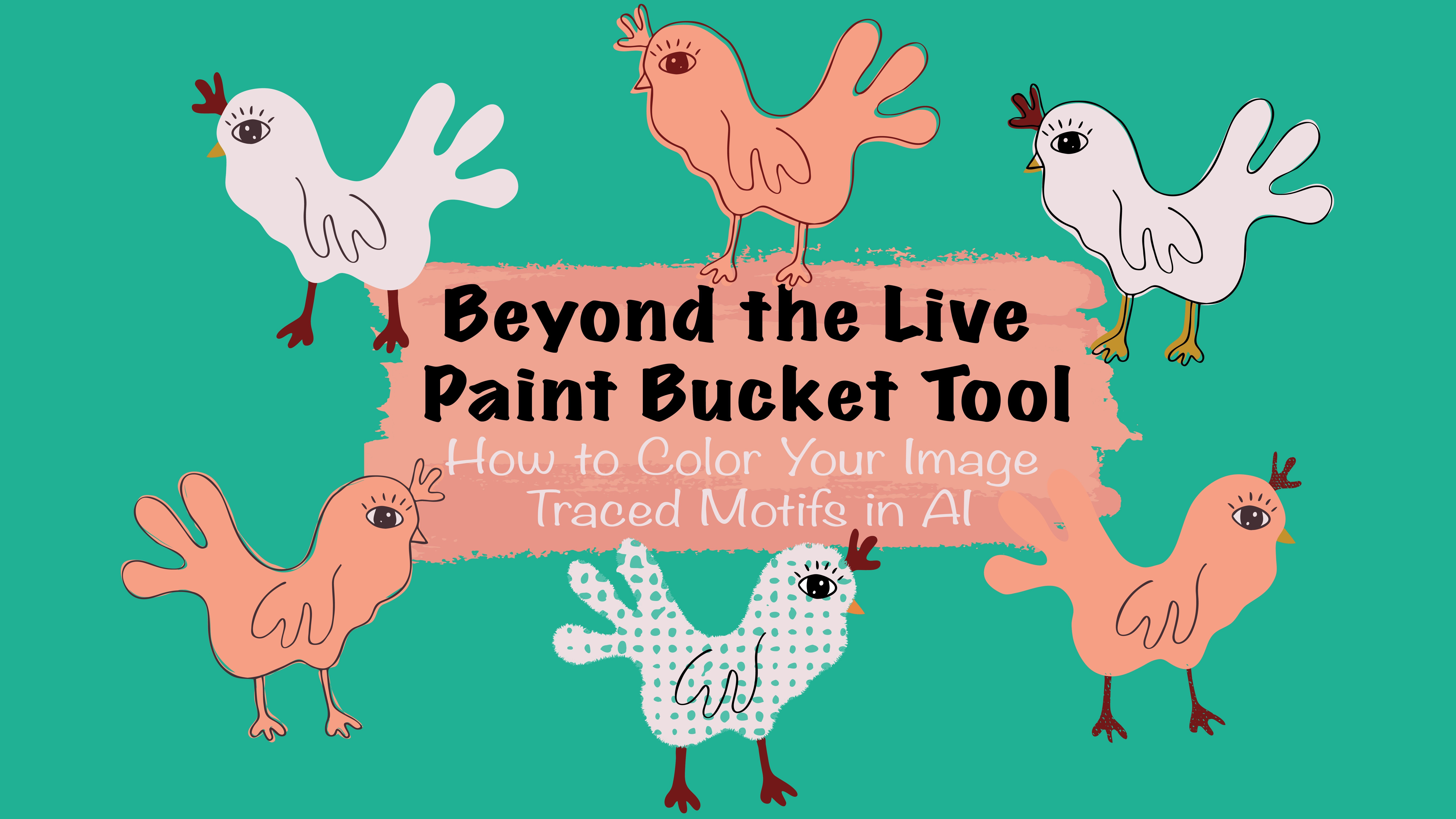 Beyond the Live Paint Bucket Tool - Color your Image Traced Motifs ...