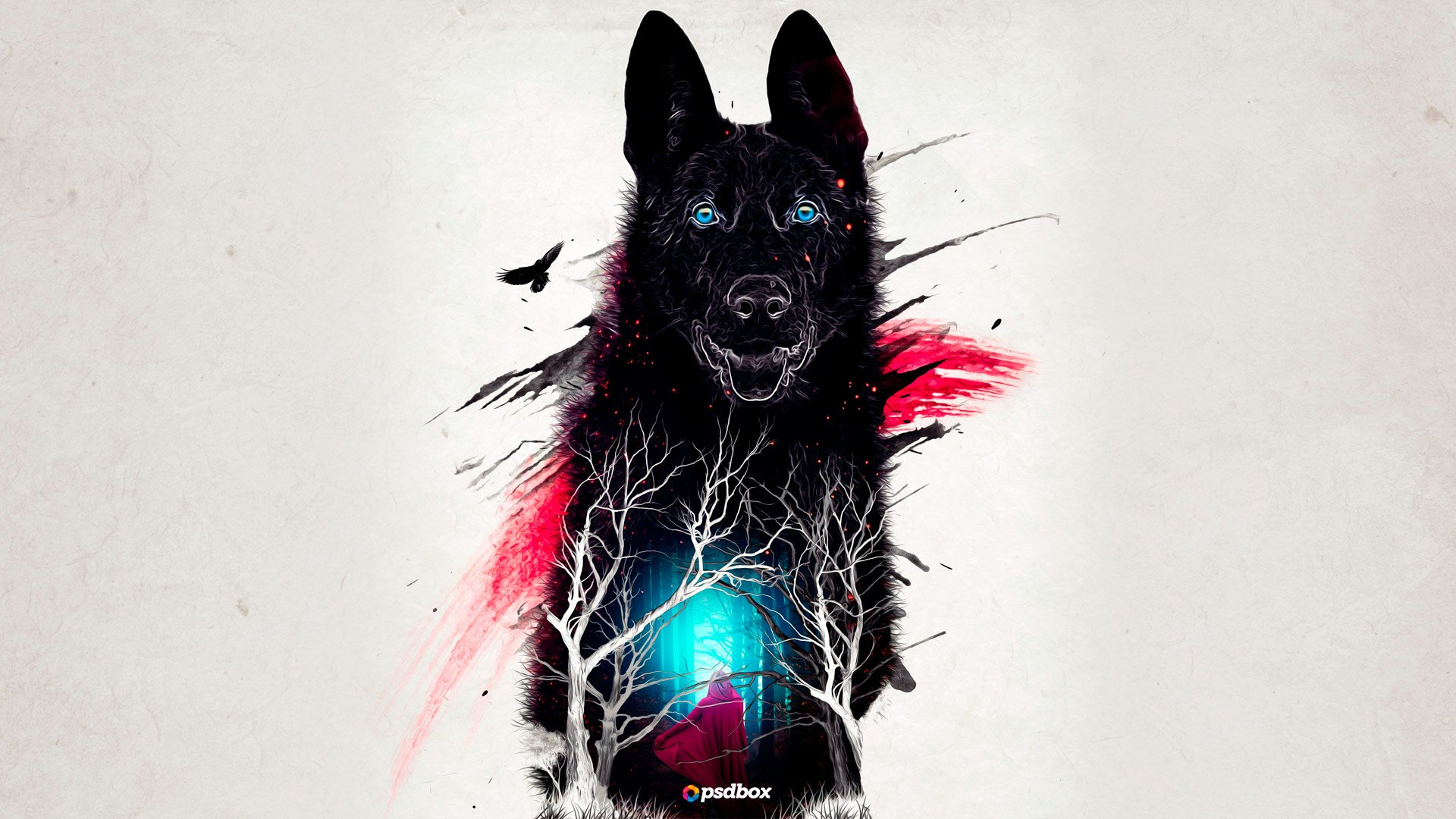 Картинки волк под пальмой настоящее