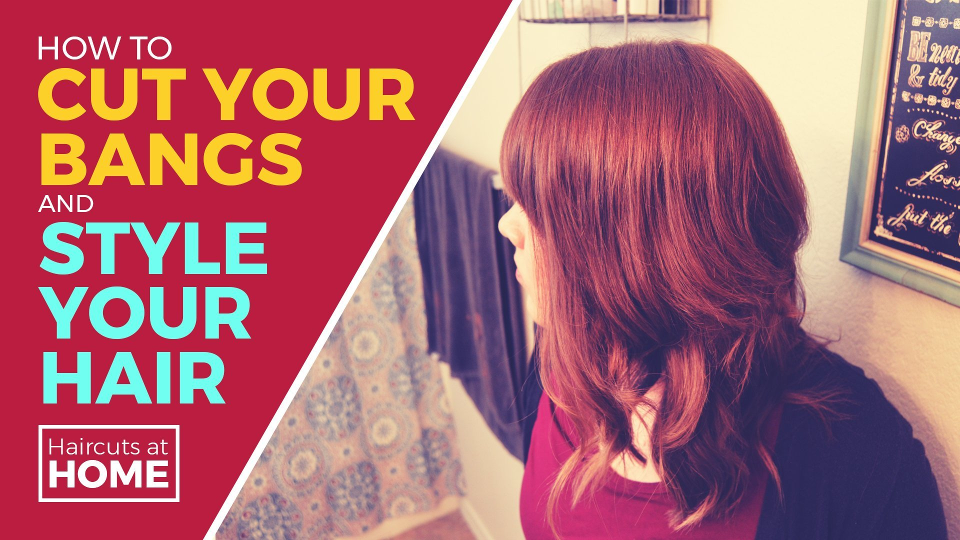 How To Cut Your Own Bangs And Style Your Hair Rebekah Buck