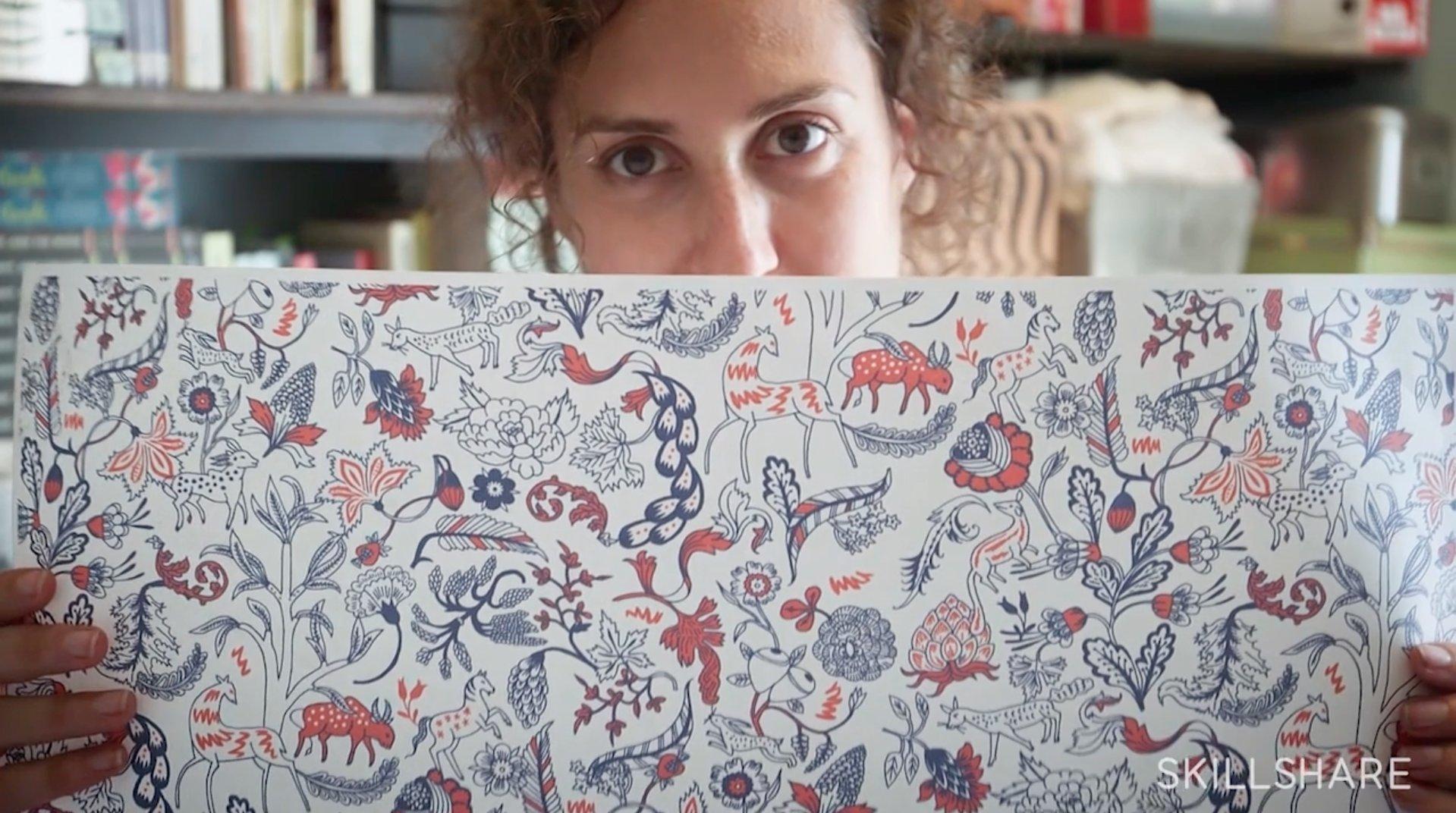 Illustrating patterns creating hand drawn wallpaper julia rothman skillshare