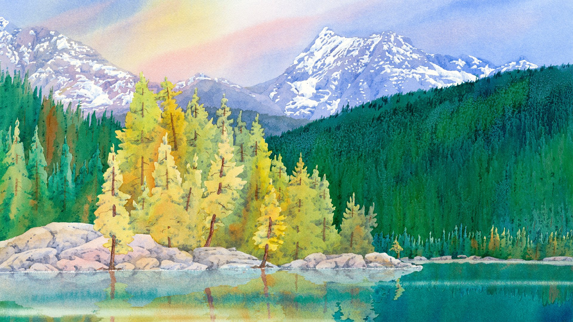painting wild places with watercolors  learn to paint lake