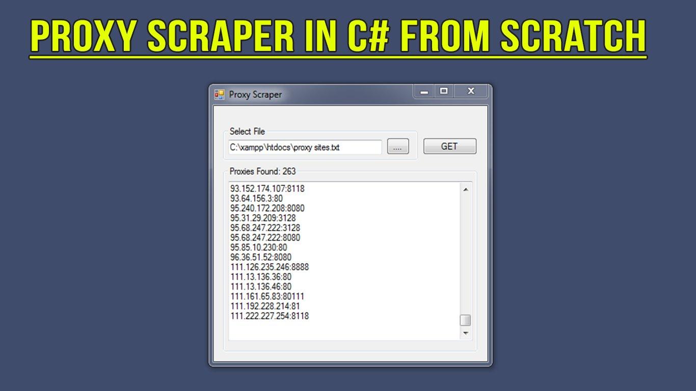 Create Proxy Scraper in C# From Scratch | Krishnaa Kumar | Skillshare