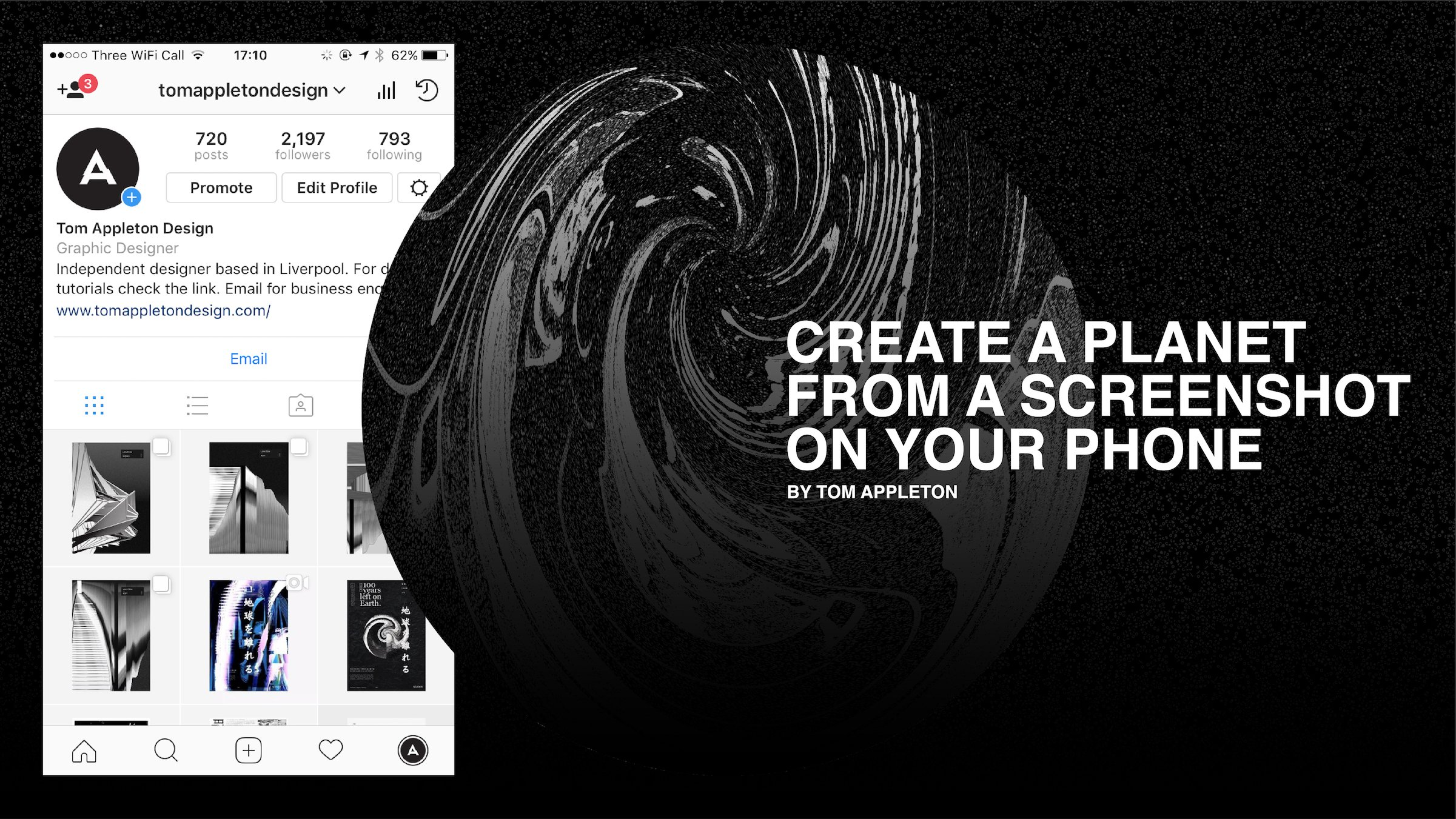 Create a planet in Adobe Photoshop from a screenshot on ...
