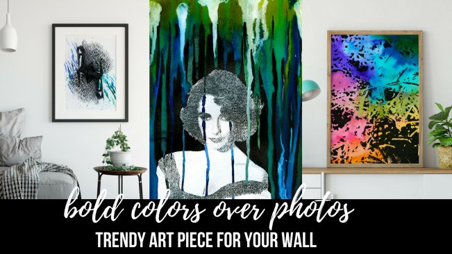 Trendy Wall Art: Bold Colors over Photos