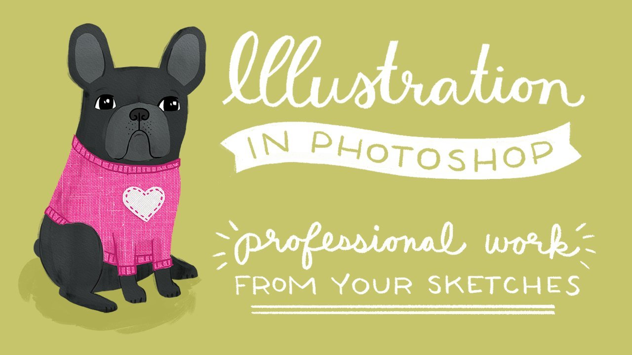 illustration in photoshop professional work from your sketches videos